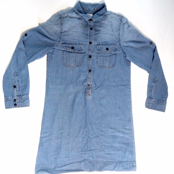 J. Crew Dresses & Skirts - J.Crew Workwear Shirtdress chambray Jean Dress 6